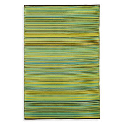 Fab Habitat Cancun Lemon & Apple Green 5-Foot 11-Inch x 8-Foot 10-Inch Indoor/Outdoor Rug