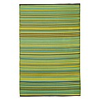 Fab Habitat Cancun Lemon & Apple Green Indoor/Outdoor Rug