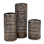 Laser-Cut Hurricane Candleholders (Set of 3)