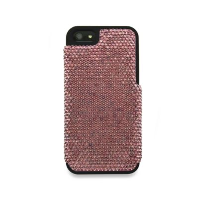 DEOS™ Full Pave Swarovski® Elements iPhone® 5 Case in Antique Pink