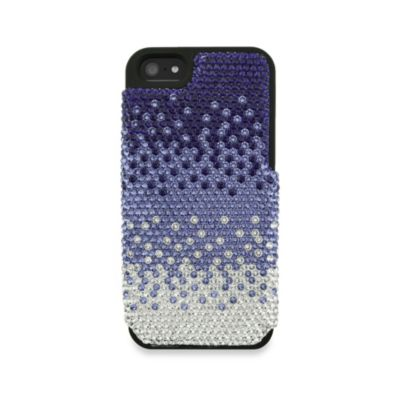 DEOS™ Full Pave Swarovski® Elements iPhone® 5 Case in Gradient Purple