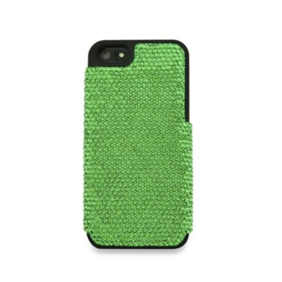 DEOS™ Full Pave Swarovski® Elements iPhone® 5 Case in Erinite Green