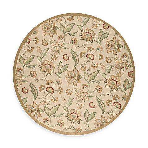 Ovar 8-Foot Round Indoor and Outdoor Area Rug in Beige