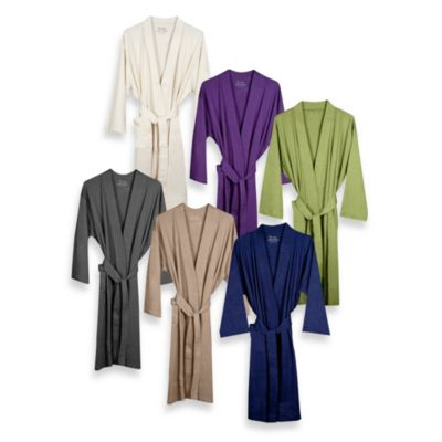 Organic Cotton Bathrobe - Sage Green