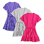 Jessica Simpson Short Sleeve Triple Ruffle Robe