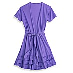 Jessica Simpson Large/X-Large Triple Ruffle Robe in Purple