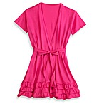 Jessica Simpson Large/X-Large Triple Ruffle Robe in Pink