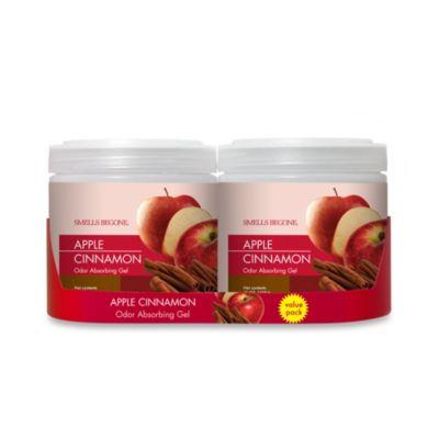SMELLS BEGONE® Apple Cinnamon 15 oz. Odor Absorbing Gel Jars (Set of 2)