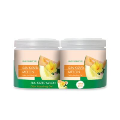 Smells BeGone® 2-Pack Sun Kissed Melon Solid Odor Absorber™ 15-Ounce Jars