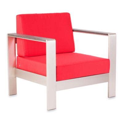 Zuo® Cosmopolitan Arm Chair in Red