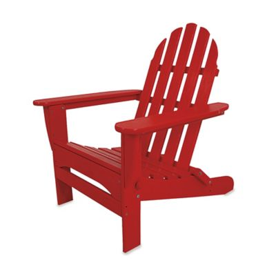POLYWOOD® Folding Adirondack Chair in White