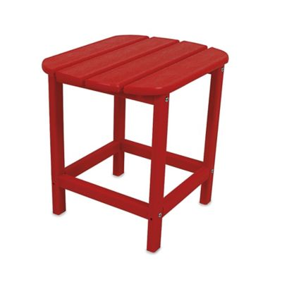 POLYWOOD® Folding Adirondack Side Table in Tangerine