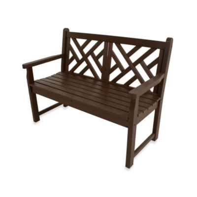 POLYWOOD® Chippendale Bench in Mahogany