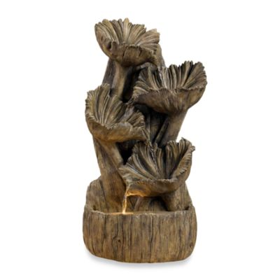 Kenroy Home Wood Flower Indoor Wall/Table Fountain