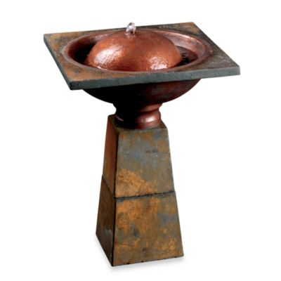 Kenroy Home Cauldron Birdbath Fountain