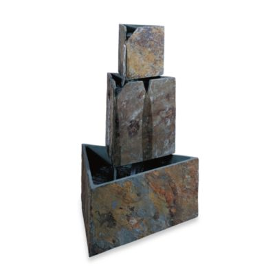 Kenroy Home Stacked Triangles Outdoor Fountain