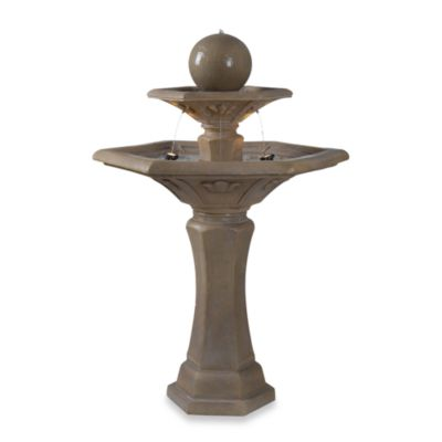 Kenroy Home Provence Travertine Outdoor Fountain
