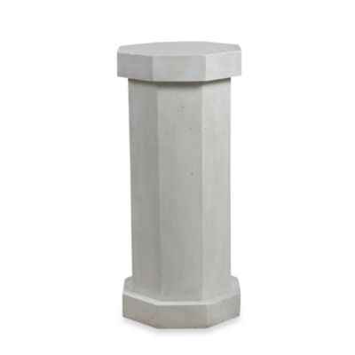 Facet Pedestal Garden Ornament