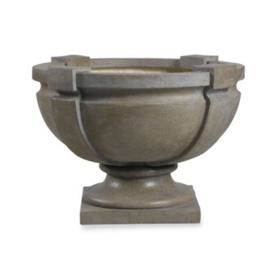 Kenroy Home Square Strap Urn Garden Ornament