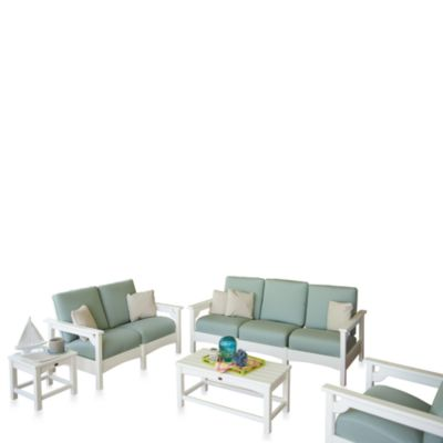 Club 5-Piece Deep Seating Cushion Group Set in White