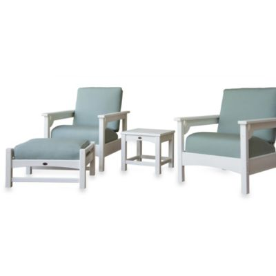 Club 4-Piece Deep Seating Cushion Group Set in White