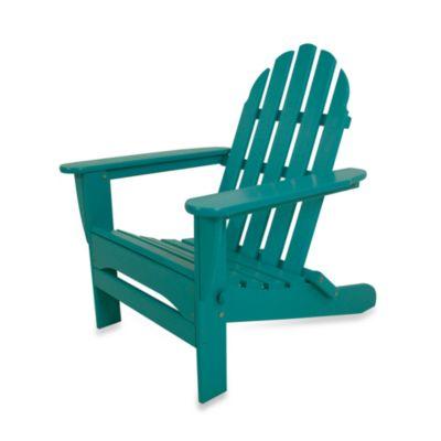POLYWOOD® Folding Adirondack Chair in Aruba