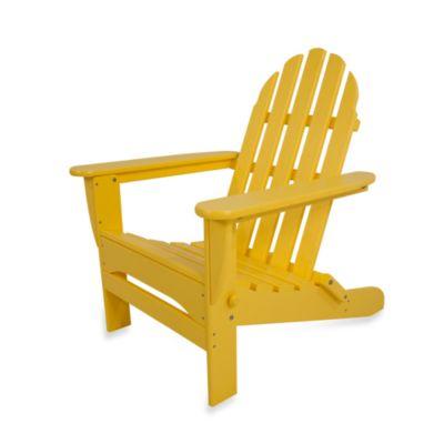 POLYWOOD® Folding Adirondack Chair in Lemon
