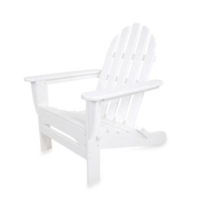 POLYWOOD® Folding Adirondack Chair in White