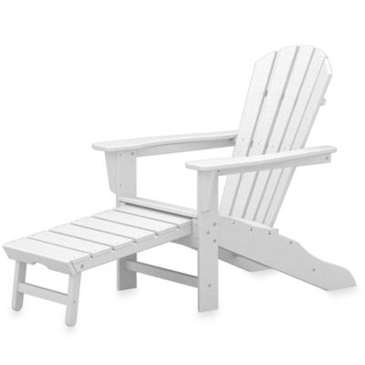 POLYWOOD® South Beach Ultimate Adirondack Chair with Ottoman in White
