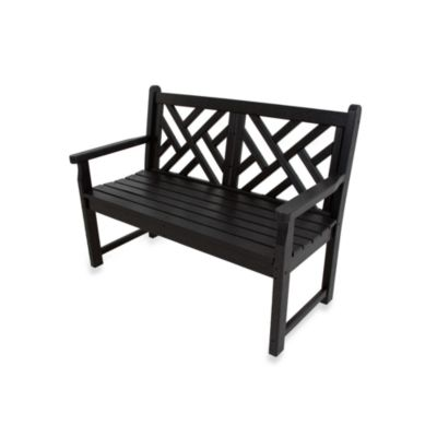 POLYWOOD® Chippendale Bench in Black