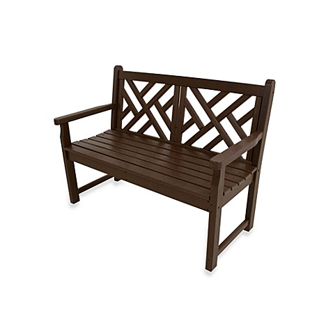 Buy Polywood 174 Chippendale Bench In Mahogany From Bed Bath