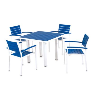 POLYWOOD® Euro 5-Piece Textured Outdoor Dining Set