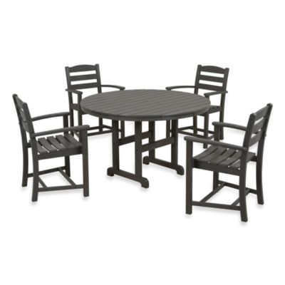 POLYWOOD® La Casa 5-Piece Dining Table Set in Mahogany