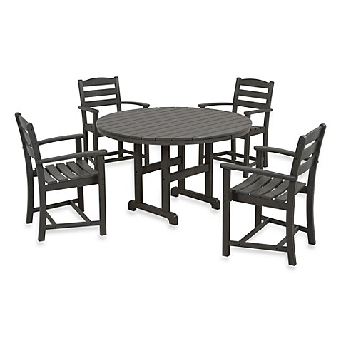 POLYWOOD® La Casa 5-Piece Dining Table Set in Slate Grey