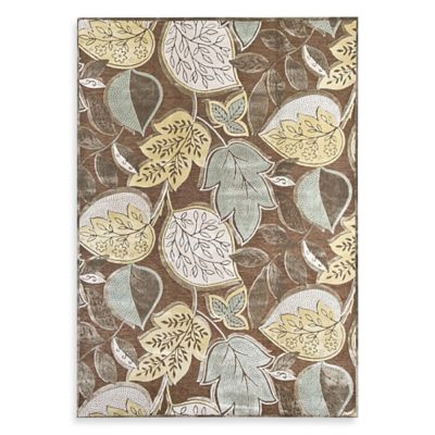 Mohawk Home Reflections Leaf 3-Foot x 5-Foot Rug