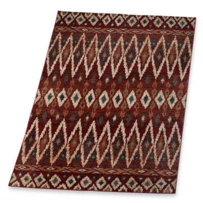 Marcella Tribal 3-Foot 3-Inch x 4-Foot 7-Inch Rug in Red