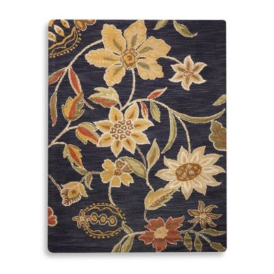 Direct Home Textiles Aspen Rug in Midnight Blue