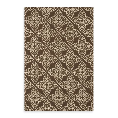 Brown and Ivory Rug