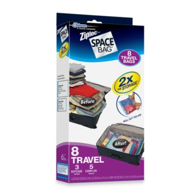 Ziploc® Space Bag® 8-Piece Travel Bag Set