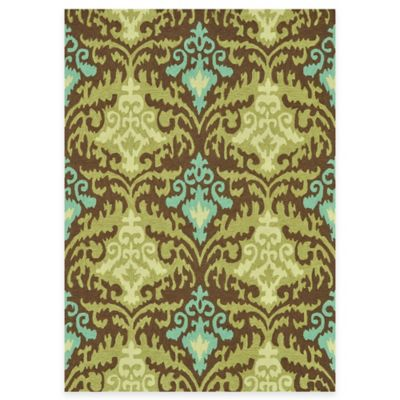Green Floral Handcrafted Rugs