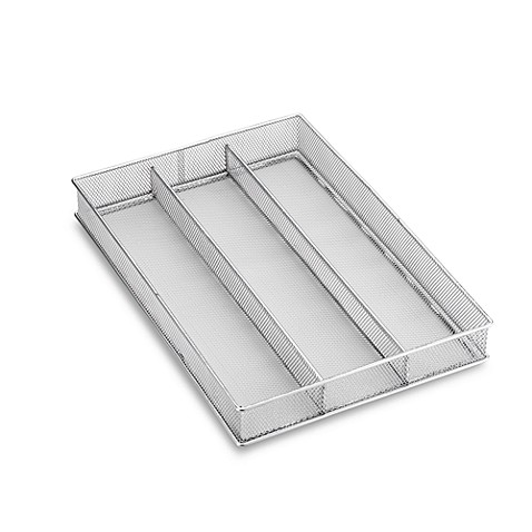 Mesh Three-Section Utensil Tray