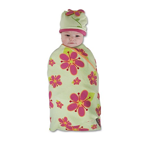 Sozo® Posies Swaddle Blanket and Cap Set