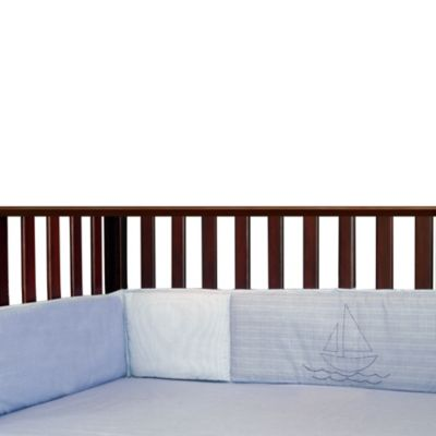 Bedding > Laugh Giggle and Smile Sailing Days 4-Piece Bumper Pad Set