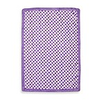 Just Born® Lavender Flower Print Fluffy Fleece Blanket