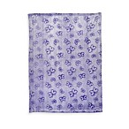 Just Born® Lavender Butterfly Print Frosted Fleece Blanket