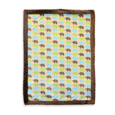 Just Born® Elephant Print Valboa Blanket