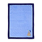 Just Born® Rocket Applique Blue Valboa Blanket