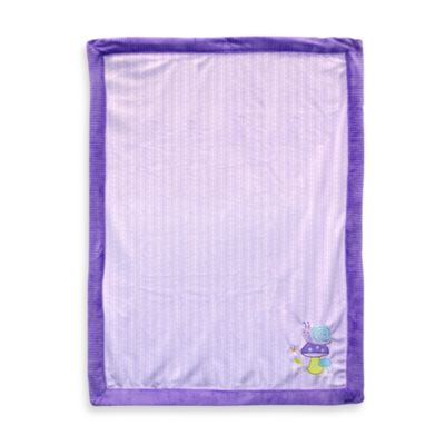Just Born® Snail Appliqué Lavender Valboa Blanket