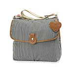 Babymel Satchel in Navy Stripe