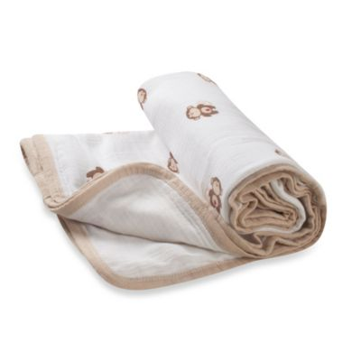 "aden® by aden + anais® ""Safari Friends in Monkey"" Muslin Stroller Blanket"